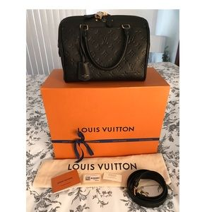 Louis Vuitton Speedy 25 Empreinte Bandouliere Noir